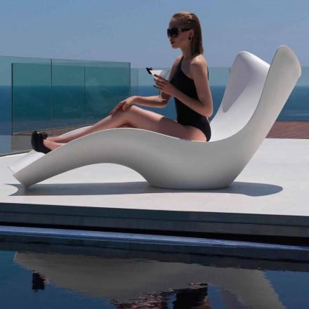 Lounge moderne për diell, në polietileni, Surf by Vondom, 2 copë
