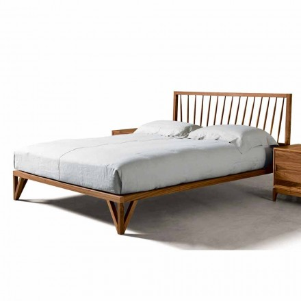 Shtrati i modelit modern Alain, struktura e ngurtë e shtratit të arrës, 160x200 cm