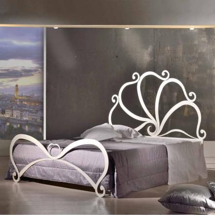 Shtrat i dyfishtë hekuri me dekorime kristali Eden, i bërë në Itali