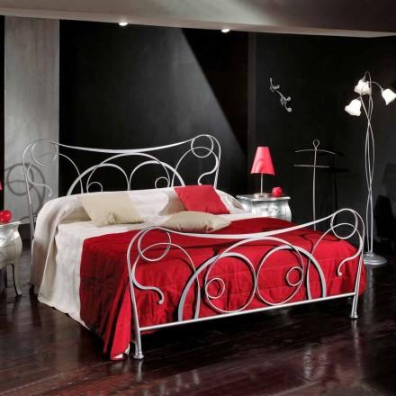 Zoe, krevat dopio, hekur i punuar italiane, punuar me dorë në Itali