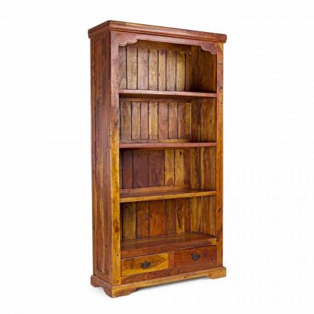 Dizajn klasik Rafte librash në dysheme të ngurta prej akacie druri - Umami