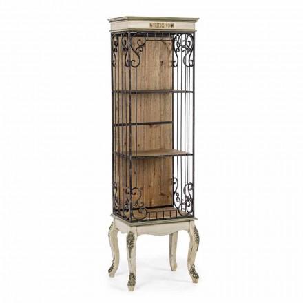 Rresht librash për dysheme me dizajn klasik në lëvizje prej druri dhe çeliku - Verena