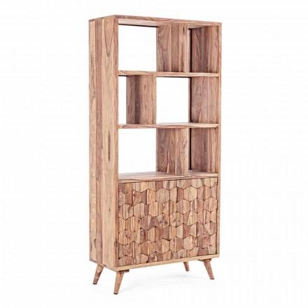 Raft librash për dysheme me dizajn të cilësisë së mirë në lëvizje prej druri dhe çeliku - Ventador