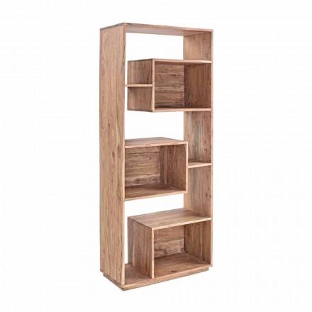Rreth librave me dysheme moderne Homemotion me strukturë druri akacie - Genza