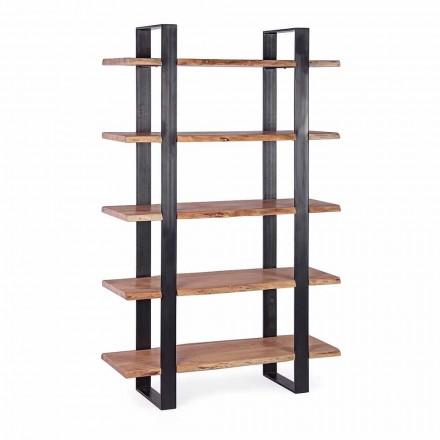 Rreth librave me dysheme çeliku Moderne Homemotion me rafte druri - Lanza