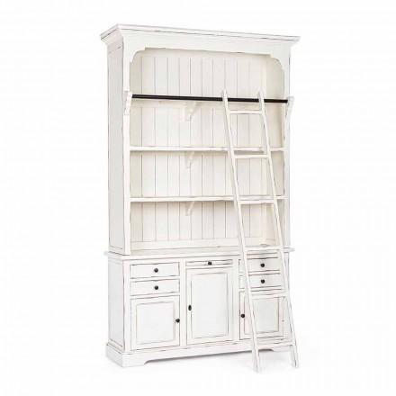 Dizajn klasik Rafte druri me shkallë dekorative Homemotion - Kedri