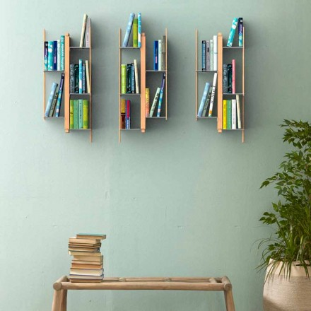 Zyra e librave mur me dizajn modern Zia Veronica