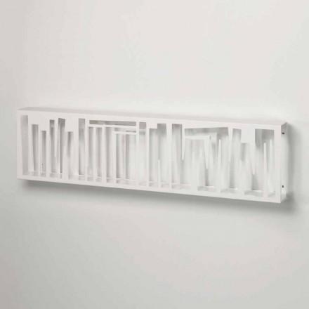 Librari i Murit me Dizajn Modern në Bardhë Metal Made në Itali - Bolivi