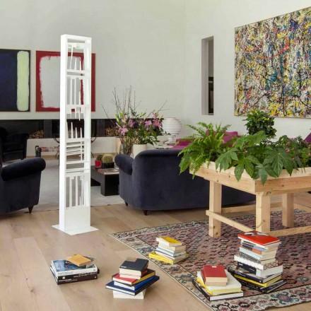 Librari me dysheme moderne me rafte metalikë të bardhë të bëra në Itali - Bolivi