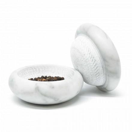 Mulliri i piperit në mermer mermeri të bardhë Saten Carrara Moderne Made in Italy - Faron