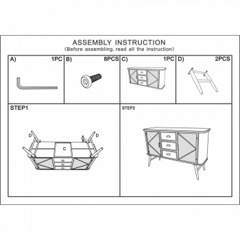 Dizajni modern i dhomës së dhomës së ndenjes me dizajn industrial në hekur dhe dru - Akimi