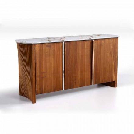 Dërrasë anësore prej druri me efekt mermeri Gres Top, me cilësi të lartë prodhuar në Itali - Wonka