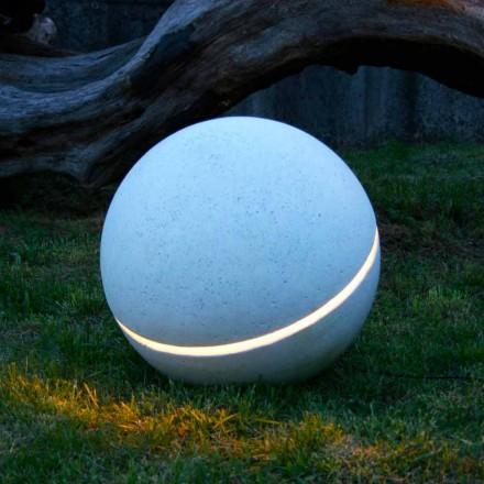 Spermë mermer ndriçimi LED në formë sferë me 1 çarë