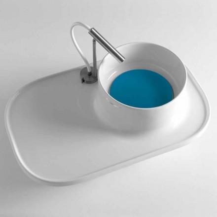 Raft me lavaman të integruar në qeramikë me shkëlqim të bardhë të bërë në Itali - Uber