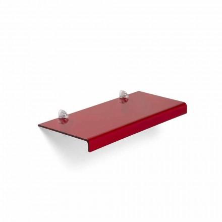 Raft dizajni modern Polly, i bërë nga metakrilati, 90x22 cm