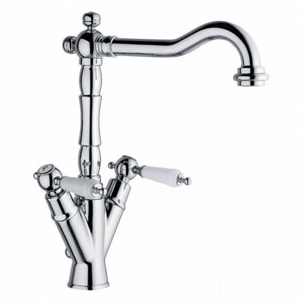 Përzierës me një vrimë për lavaman klasik në tunxh prodhuar në Itali - Shelly