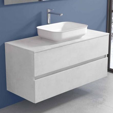Mobilje për banjo të varura me lavaman për dizajn në 4 përfundime - Paoletto