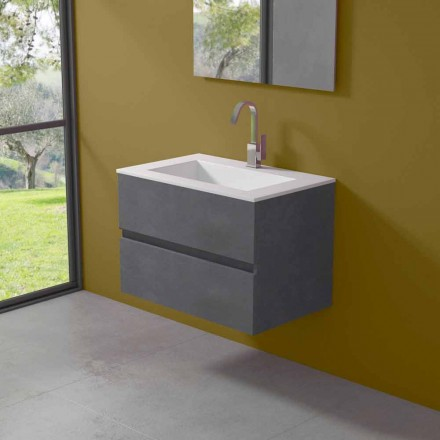 Dollap pezullimi për banjo me lavaman të integruar në 3 dimensione - Marione