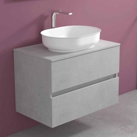 Mobilje për banjo të varura me lavaman oval, Dizajn modern - Cesiro