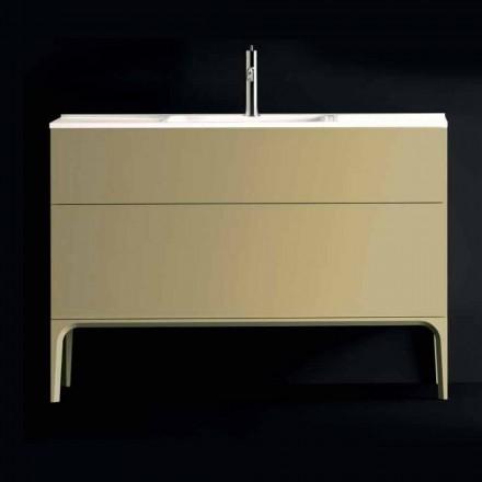 Vanitet i banjës Ambra me legen, i bërë prej druri të llakuar 120x85x46cm