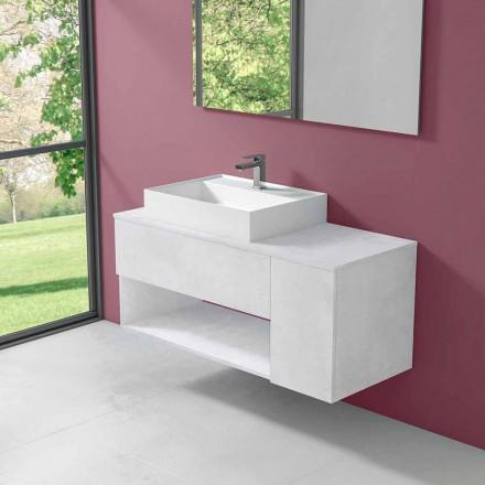 Dizajn i pezulluar Dollap banjo me lavaman të countertopit të stilit modern - Pistillo