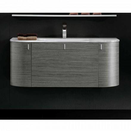 Gëzuar kabinetin modern të banjës së varur me mur, 2 dyer dhe 1 sirtar