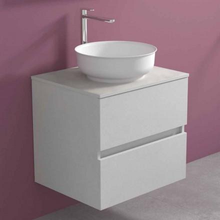 Dollap i varur i banjës me lavaman të countertopit të rrumbullakët, Dizajn modern - Dumbo