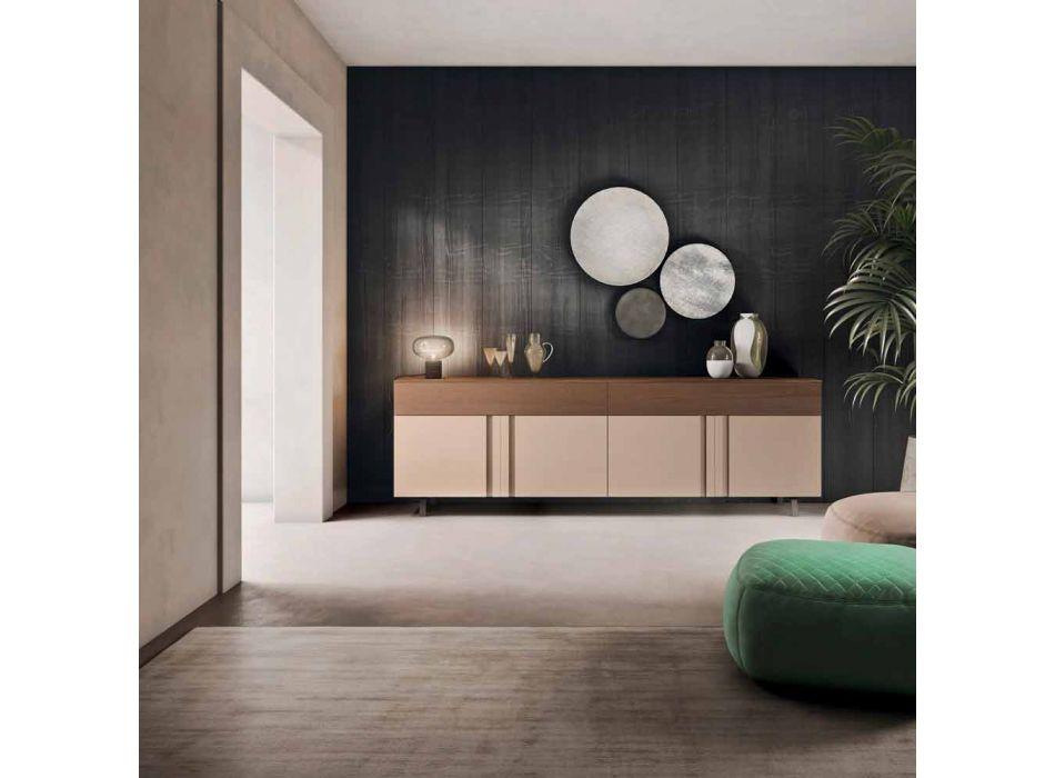 Dollap anësor i dhomës së ndenjes në dru ekologjik me sirtarë - Serris