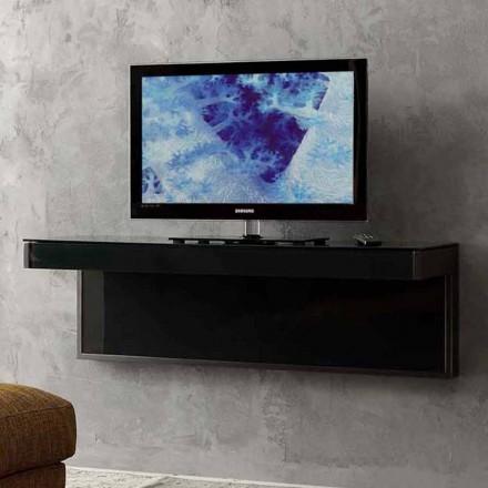 Dollap TV me mur në kristal të zi dhe metal prodhuar në Itali - Americio