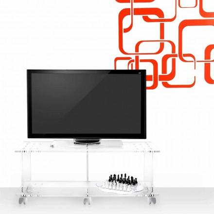 Stendë televizive me dizajn modern të bërë nga plexiglass transparente Mago