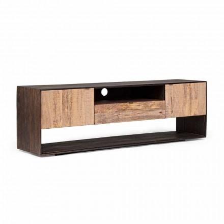 Stenda për TV Homemotion në Mango Wood and Wood Veneered - Amilcare