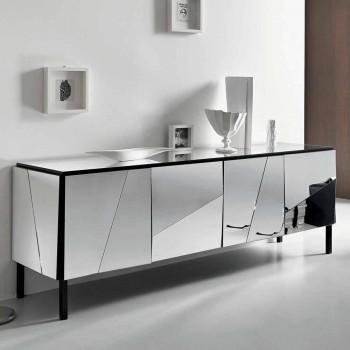 Bordi i dhomës së ndenjes në dru të zi të zi dhe xham pasqyre Top Liscio - Senese
