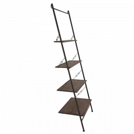 Dizajn modern Kabineti i shkallëve në stilin industrial në dru dhe metal - Denes