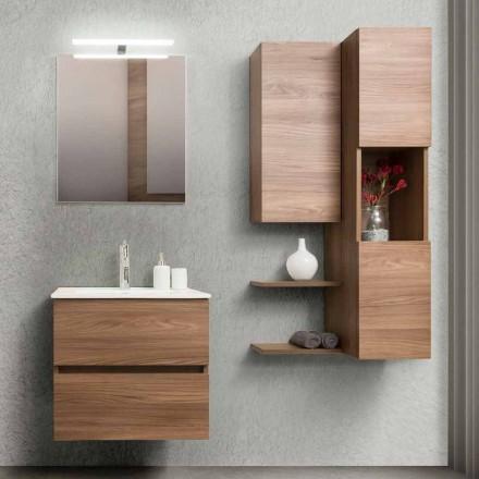Kabineti i banjës 60 cm, Pasqyra, Pellgu dhe Kolona - Becky