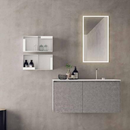 Mobilje me dizajn të pezulluar, përbërje moderne e banjës - Callisi9