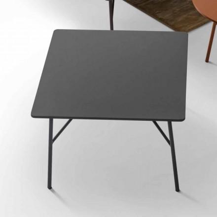Tavolinë kafeje MDF me bazë çeliku Mek, prodhuar në Itali nga My Home
