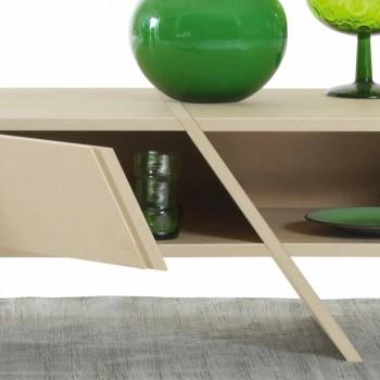 My Home Ray design sideboard MDF pëlhurë leshi L160xH35cm e bërë në Itali