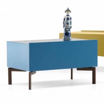 Tavolinë në shtrat të MDF Sally me këmbë çeliku nga Shtëpia ime, dizajn modern
