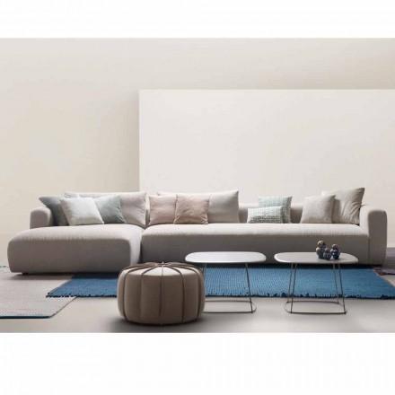 Divane modulare E butë, e bërë në Itali nga My Home, tapiceri pëlhure
