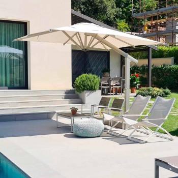 Ombrellë me krahun e kopshtit në alumin të bardhë ose antracit 300x400 cm - Lapillo