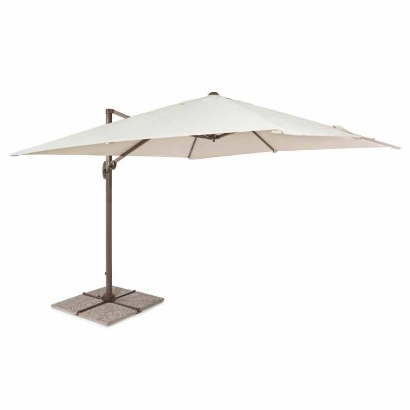 3x3 ombrellë e jashtme me leckë poliesteri dhe pol alumini - Teksas