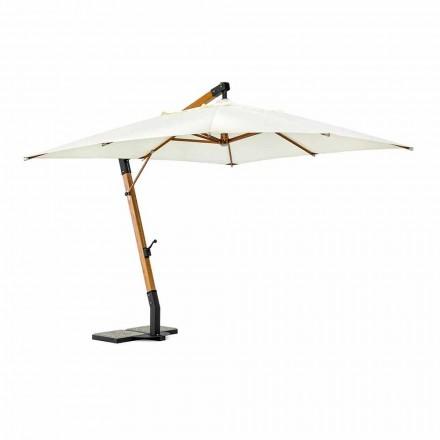 Ombrella Ecrù Outdoor në Poliester dhe Dru 3x3, Homemotion - Passmore
