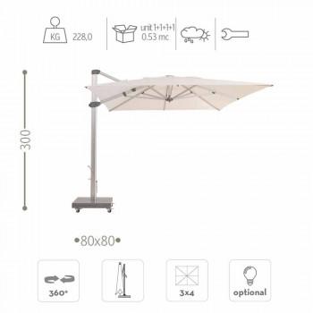 Umbrella e jashtme e papërshkueshme nga uji me bazë Graniti 3x4 - Zeus nga Talenti