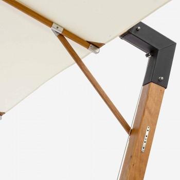 Çadra e jashtme në dru dhe ngjyra poliesteri Ecrù 3x4 Homemotion - Passmore