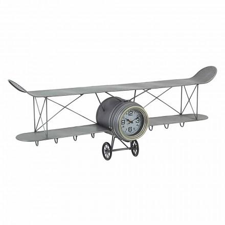 Orë muri në formë aeroplani në lëvizje çeliku dhe qelqi - Plano