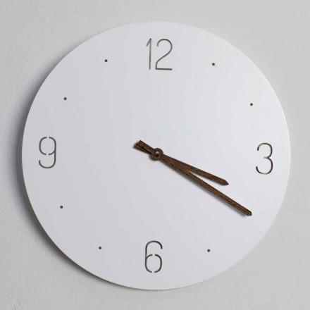 Ora e murit me dizajn klasik në dru të prerë me lazer të rrumbullakët - Jovial