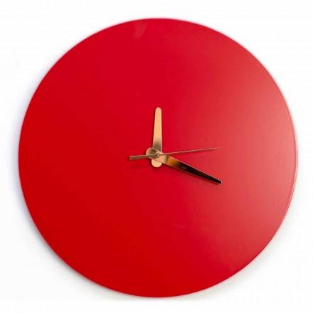 Ora e Murit të Kuq me Raundin Italian dhe Dizajnin Modern në Dru - Callisto
