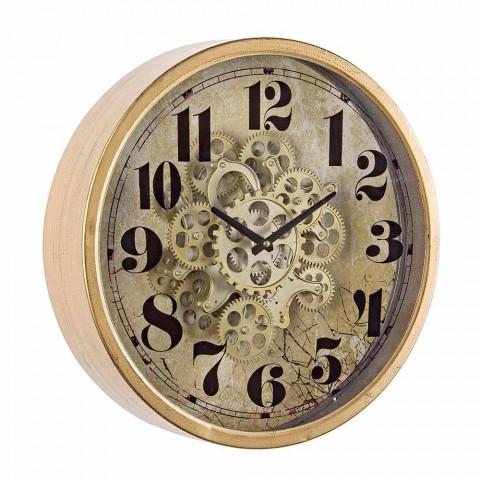 Diametri i orës së rrumbullakët të murit 46.5 cm në lëvizje çeliku dhe qelqi - Rando