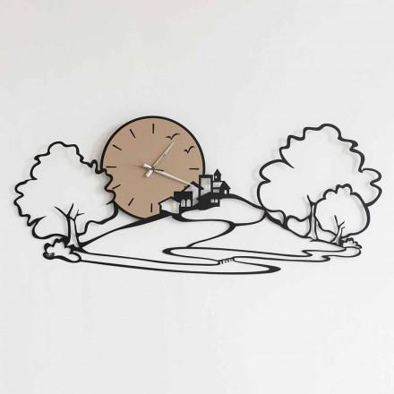 Ora e murit me peizazh në hekurin e zi ose baltë e bërë në Itali - Paesello