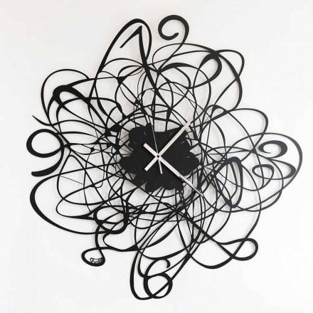 Ora e murit me dizajn modern në hekur të zi ose të bardhë të bërë në Itali - Baldo